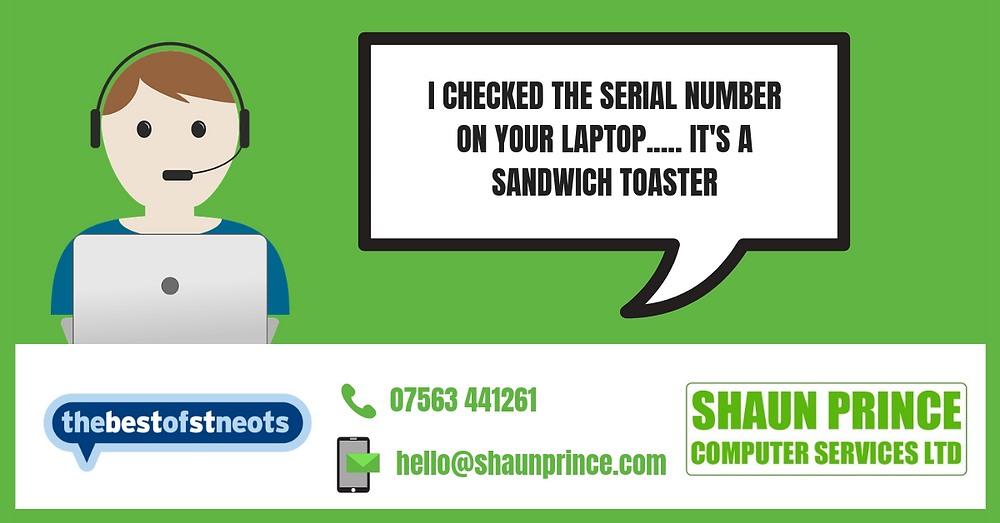 I checked the serial number on your laptop... It's a sandwich toaster