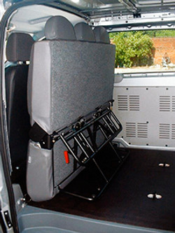 3 Place Folding Seat Stowed Position