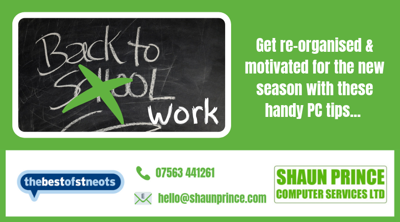 Back 2 School - Get re-organised and motivated for the new season with these handy PC tips...