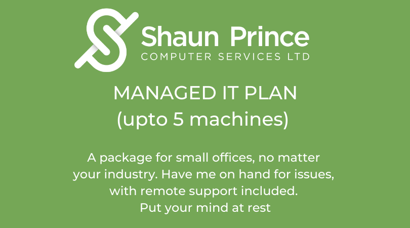 Managed IT Plan (upto 5 machines)