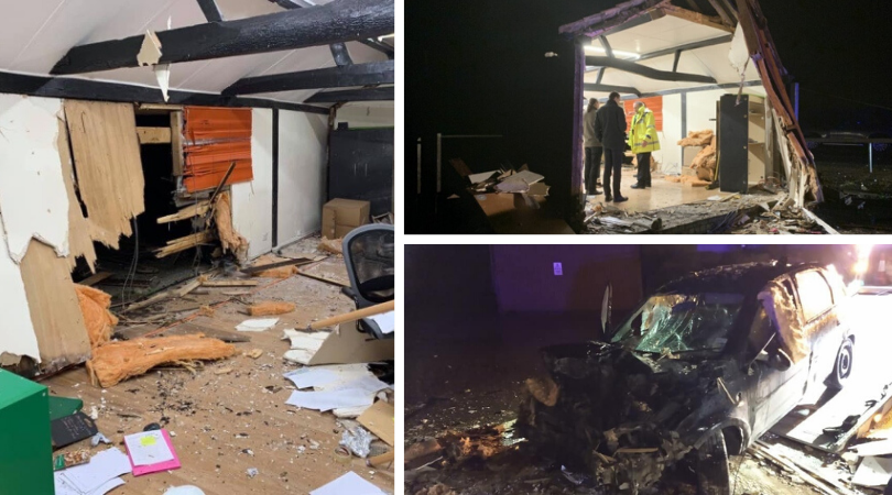 Tythe Farm Office Crash in February 2020