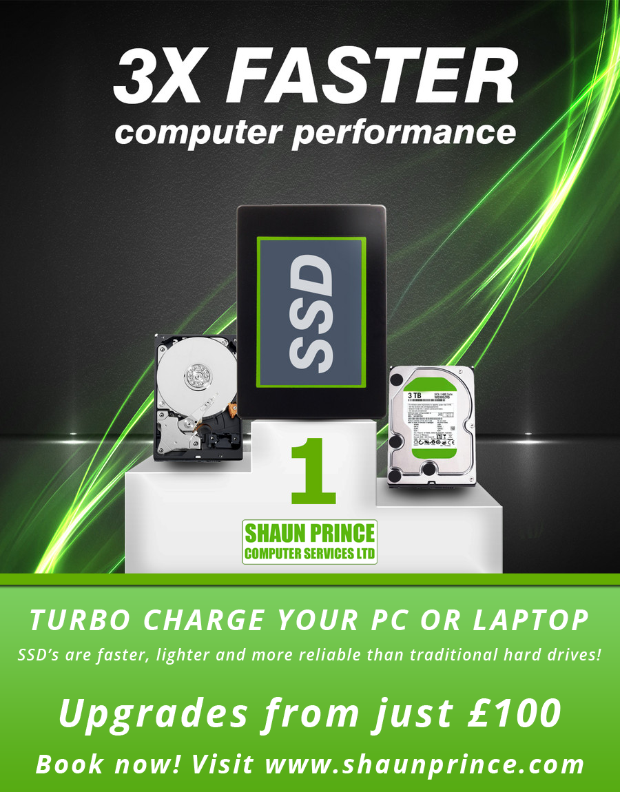 SSD Upgrades - 3x Faster Computer Performance