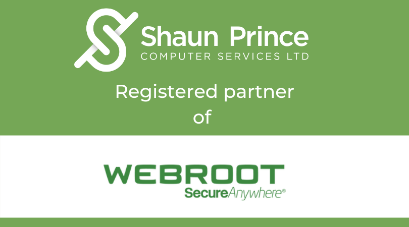 Shaun Prince Computer Services Ltd, Registered Partner of Webroot Secure Anywhere