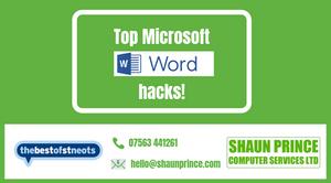 Top Microsoft Word Hacks!