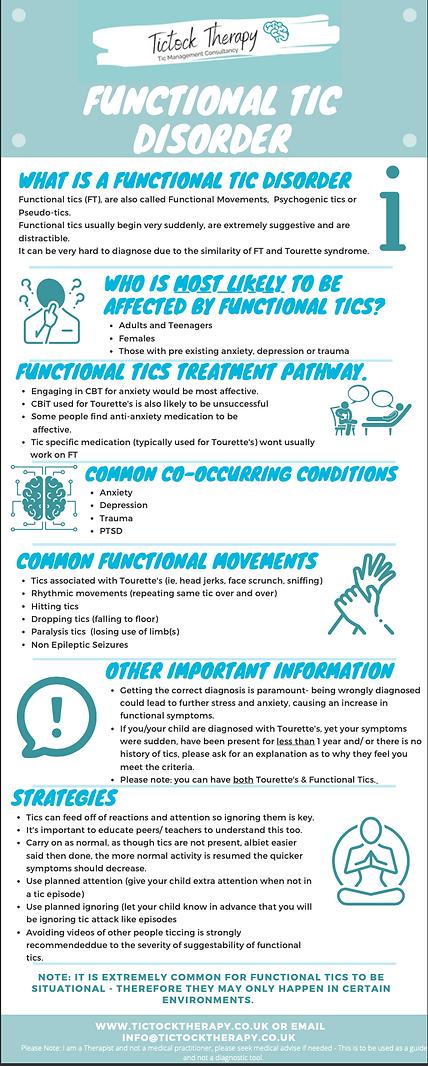 Functional tics infograph