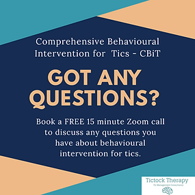 Tic Therapy more information call