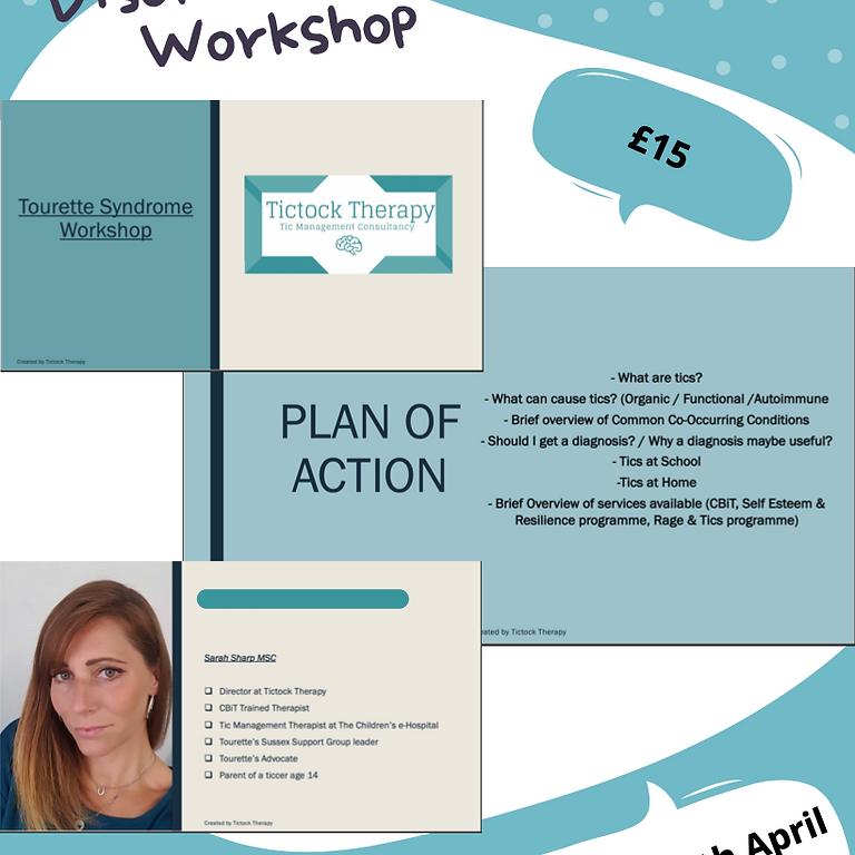 Tourette's & Tic Disorders - Parent/ Carer Workshop