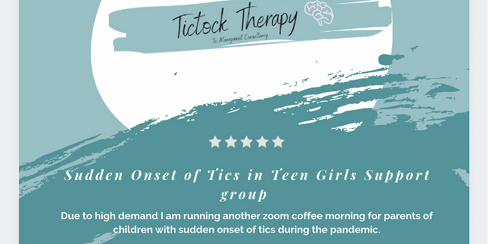 Sudden onset of tics support group