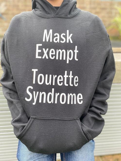 Mask exempt - Tourette's HOODY