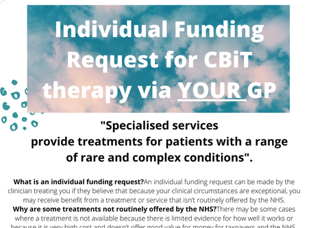 Individual Funding Request for CBiT therapy via your GP.