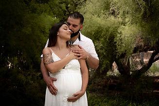 Sesión de fotografía de embarazo en Sanxenxo de uno punto cuatro fotografía