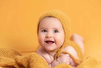 Sesión de fotografía de 3 meses del bebé en Sanxenxo de uno punto cuatro fotografía