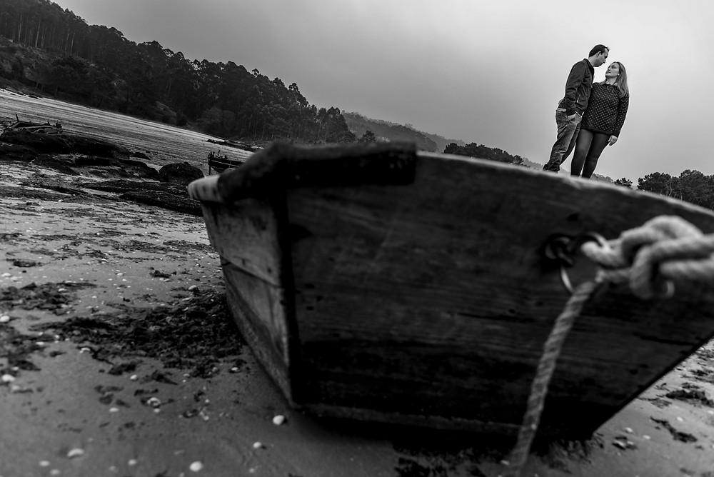 Sesión de fotografía de preboda en San Vicente do Mar en O Grove, Pontevedra de uno punto cuatro fotografía