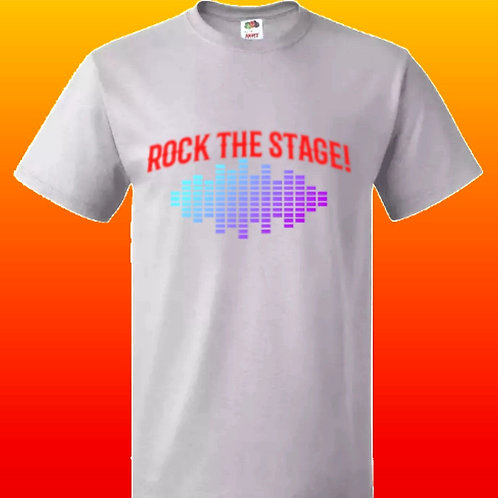 Men's Rock The Stage T-Shirt Grey