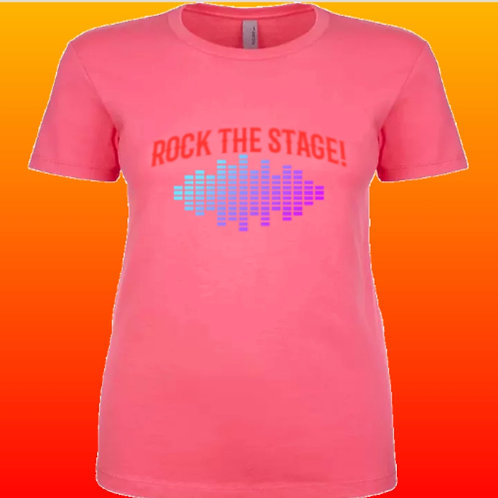Women's Rock The Stage T-Shirt Pink