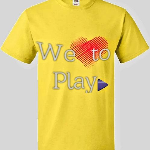 Men's We love To Play Yellow