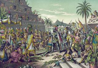 เมื่อชาวสเปนที่มาถึงแอซเท็คได้รับการต้อนรับราวเทพเจ้า