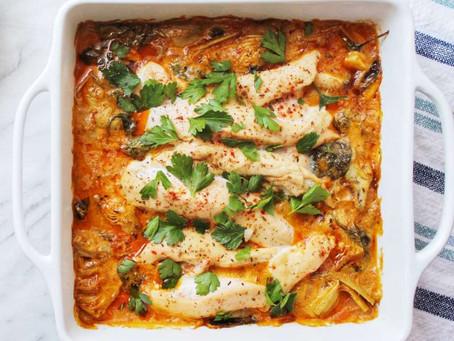 Spinach Artichoke Chicken Bake (DF & GF)