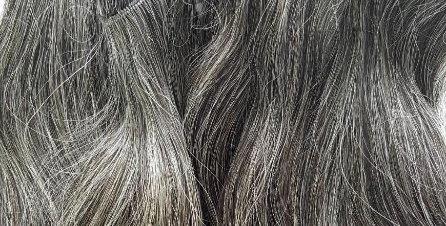 Vietnamese Natural Gray Hair Extensions
