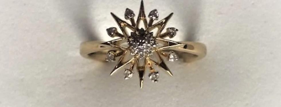Sterling Silver Supernova Ring