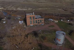 Acme Power Plant and water tower aerial, Sheridan Wyoming