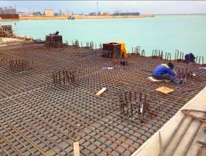 Строительный аудит - строительство нефтеналивного причала. Строительная готовность 50-60%