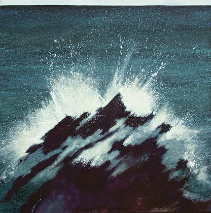 'Waves' Greetings Cards by Jo Ashby, Pack of 4