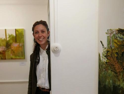 Ana invigilating at Blue House Gallery