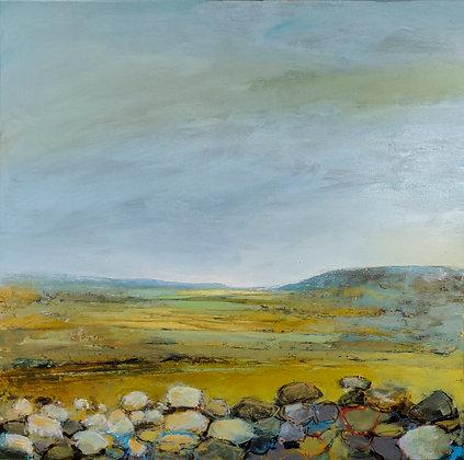 'Harvest Fields', Acrylic on Canvas