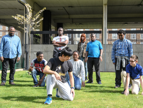 One of a series of projects for young people I commissioned during the course of the program, 'Exploring Vauxhall Through Performance & Parkour' was delivered by theatre director Danielle McIlven.