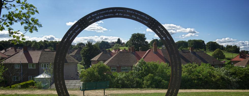 Sculptural Frame with Poem, Manor Park