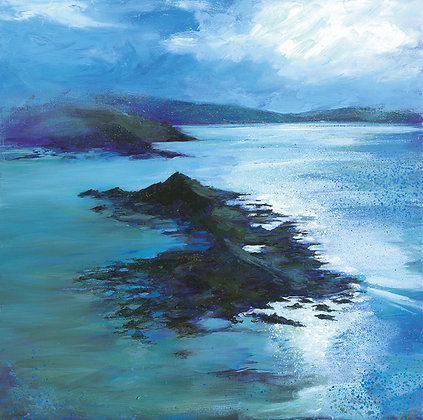 'Calm Seas' Greetings Cards by Jo Ashby, Pack of 4