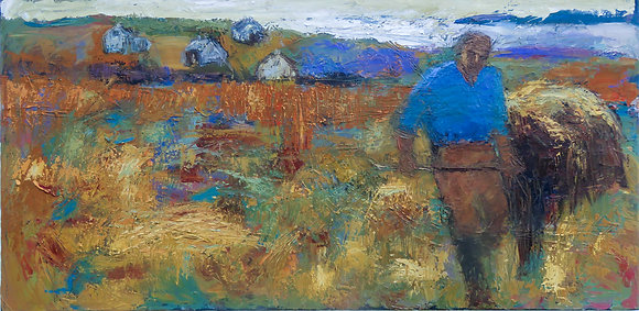 'Making Hay', Oil on Canvas