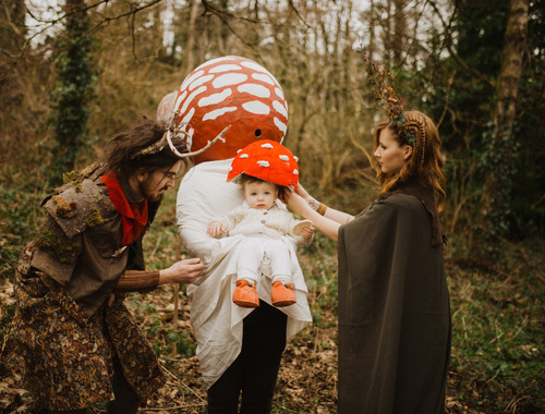 Woodland Queen, Green Man , Toadstool and Toadstool Fairy