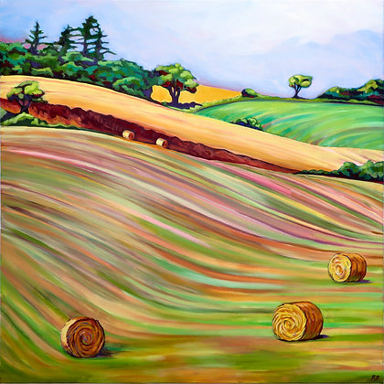 'Hayfield 3', Oil on Canvas