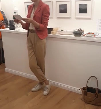 Ana's curator's talk at exhibition opening