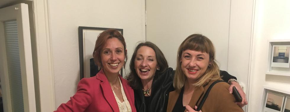 Ana with artists Johanna Connor and Ciara Rodgers
