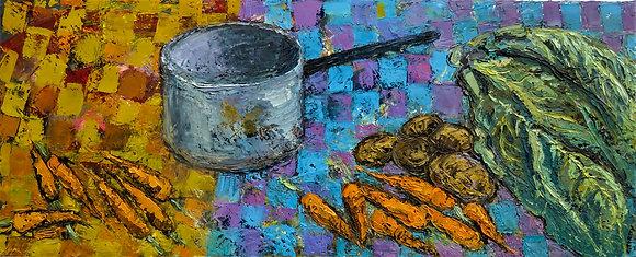 'Harvest Pot', Oil on Canvas