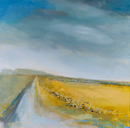 'The Long Road', Acrylic on Canvas (unframed)