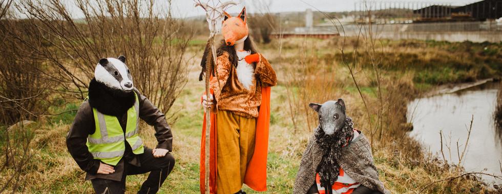 Town Puca Fox, Badger & Rat