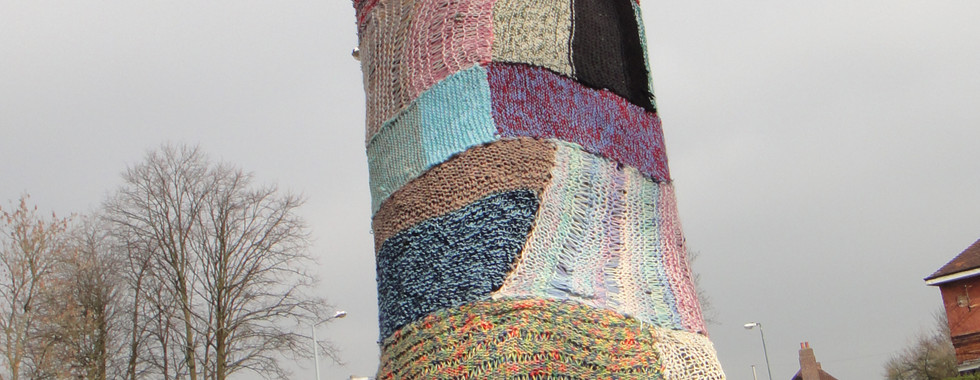 Knitted Tree, part of Tree Trail Event