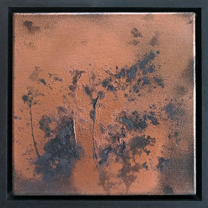 'Nocturnal Glow', Mixed Media on Canvas