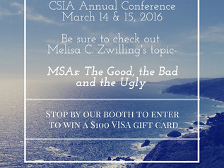 MSA Attorney Melisa Zwilling speaking at CSIA Annual Conference