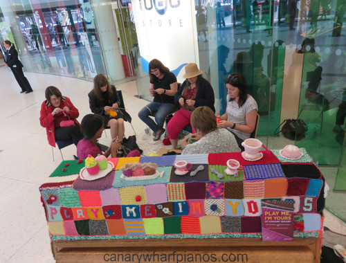 The Knit Wits at work