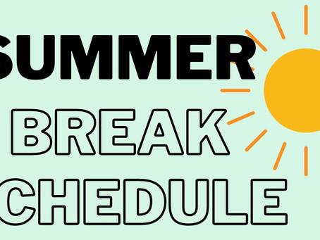 AppalCART Summer Break Schedule