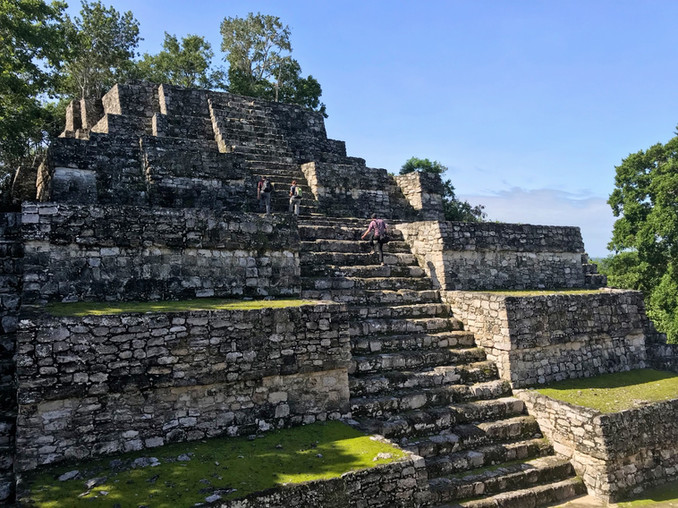 Climb the ruins at Calakmul