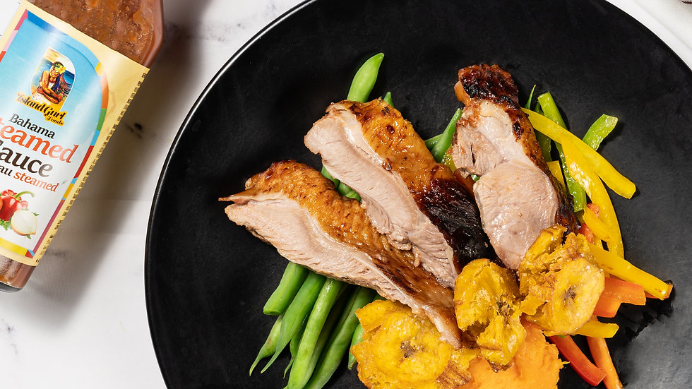Ontario Turkey Thighs w/ Bahama Steamed Sauce Chef Kit