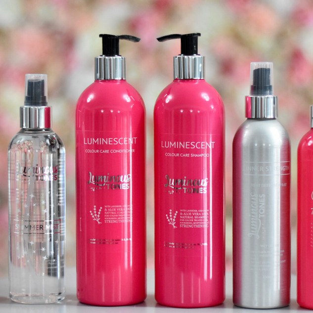 Luminous Tones professional haircare range.