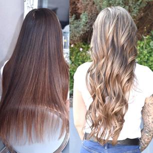 Long Hair Balayage And Highlights