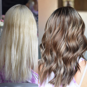 Platinium Blonde To Multi Toned Brown